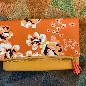 Like new! Rachel Pally canvas bag- orange floral
